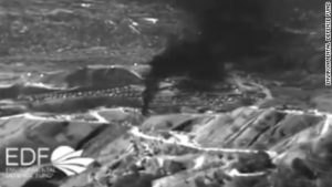 Aerial view of Aliso Viejo gas leak